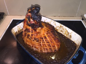 Apricot and Ginger Glazed Ham