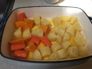 Veg ready for the oven